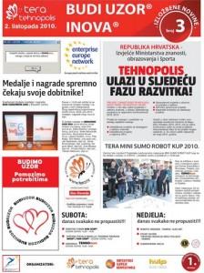 Izložbene novine broj 3, 2. listopada 2010.