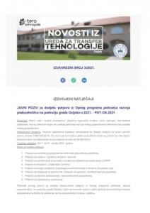 Izvanredni broj Novosti iz Ureda za transfer tehnologije 3/2021