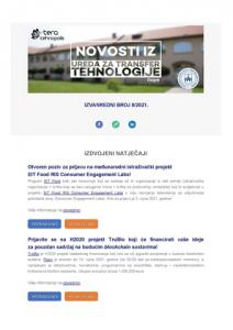 Izvanredni broj Novosti iz DIH Ureda za transfer tehnologije 8/2021