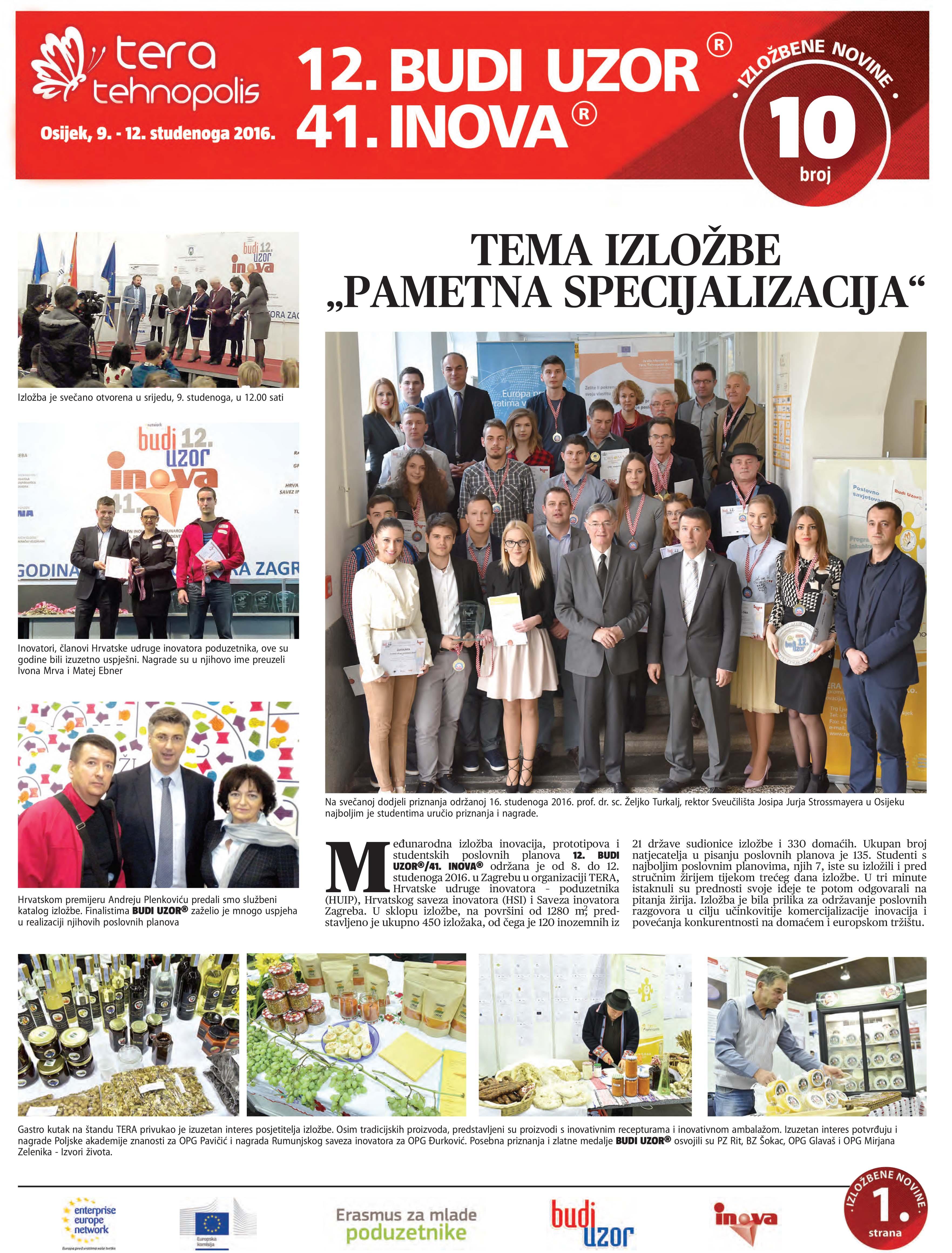 Izložbene novine broj 10, 19. studenoga 2016.